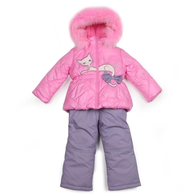 Верхняя одежда. Девочкам. Зимний комплект Kiko для девочки БРИДЖИТ (розовый), 1-5 лет. Комбинезоны и комплекты