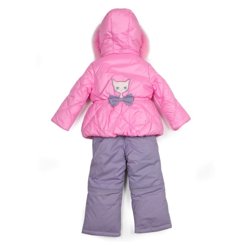Винни Пух. Верхняя одежда. Девочкам. Зимний комплект Kiko для девочки БРИДЖИТ (розовый), 1-5 лет